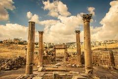 Καταστροφή Jerash Στοκ εικόνα με δικαίωμα ελεύθερης χρήσης