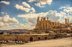 Καταστροφή Jerash Στοκ Εικόνα