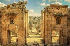 Καταστροφή Jerash Στοκ φωτογραφία με δικαίωμα ελεύθερης χρήσης