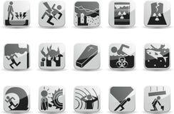 καταστροφικά εικονίδια Στοκ εικόνα με δικαίωμα ελεύθερης χρήσης