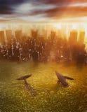 Καταστροφική κλιματική αλλαγή Στοκ Φωτογραφία