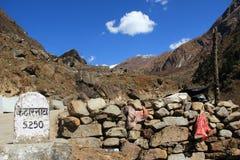 Κατατρόπωση ταξιδιού ναών Kedarnath. Στοκ Εικόνες