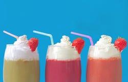 Καταφερτζήδες Milkshake στοκ εικόνα