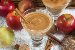 Καταφερτζής της Apple με την κανέλα Ποτό διατροφής υγιής διατροφή Στοκ εικόνες με δικαίωμα ελεύθερης χρήσης
