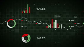 Καταδίωξη επιχειρησιακών στοιχείων πράσινη διανυσματική απεικόνιση