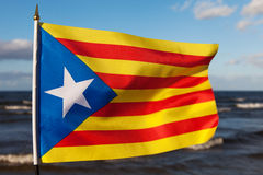 καταλανική σημαία Στοκ φωτογραφία με δικαίωμα ελεύθερης χρήσης