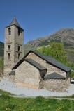Καταλανική Romanesque εκκλησία στο vall de Boi Στοκ Εικόνες
