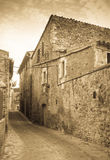 Καταλανικό χωριό Λα Pera, Καταλωνία Στοκ εικόνες με δικαίωμα ελεύθερης χρήσης