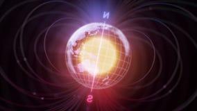 καταδείξτε τη μαγνητική ισχύ γραμμών σιδήρου δύναμης αρχειοθετήσεων πεδίων ελεύθερη απεικόνιση δικαιώματος
