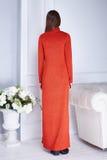 Καταλόγων μόδας περιστασιακό φόρεμα ύφους ένδυσης γυναικών ενδυμάτων πρότυπο Στοκ Εικόνες