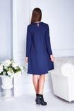 Καταλόγων μόδας περιστασιακό φόρεμα ύφους ένδυσης γυναικών ενδυμάτων πρότυπο Στοκ Φωτογραφία