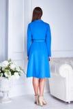 Καταλόγων μόδας περιστασιακό φόρεμα ύφους ένδυσης γυναικών ενδυμάτων πρότυπο Στοκ φωτογραφία με δικαίωμα ελεύθερης χρήσης