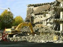 κατεδάφιση κατάρρευσης οικοδόμησης Στοκ Εικόνα
