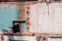 κατεδάφιση οικοδόμησης & Στοκ Φωτογραφία