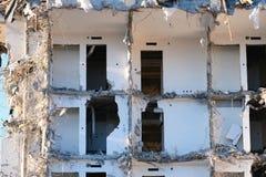 Κατεδαφισμένος οι καταστροφές οικοδόμησης στοκ φωτογραφίες
