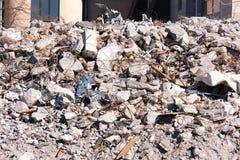 Κατεδαφισμένος οι καταστροφές οικοδόμησης στοκ φωτογραφία με δικαίωμα ελεύθερης χρήσης