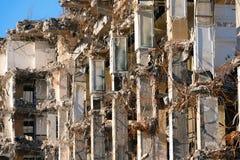 Κατεδαφισμένος οι καταστροφές οικοδόμησης στοκ εικόνα