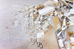 Κατεδαφισμένος τοίχος γυψοσανίδας - εικόνα με το διάστημα αντιγράφων στοκ εικόνα