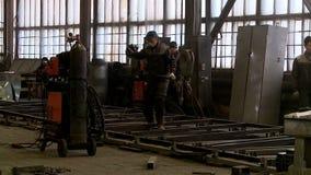 Κατεργασία του εργοστασίου μερών μετάλλων απόθεμα βίντεο