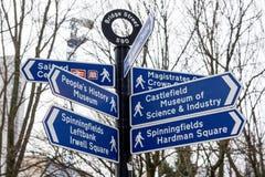 Κατευθύνσεις διαβάσεων στην πόλη Στοκ Εικόνες
