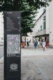 Κατευθύνσεις και πίνακας χαρτών σε Cheapside, πόλη του Λονδίνου, UK στοκ φωτογραφία με δικαίωμα ελεύθερης χρήσης