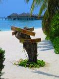 Κατευθύνσεις στην άμμο στοκ φωτογραφία με δικαίωμα ελεύθερης χρήσης