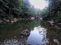 Κατευνασμός στον ποταμό στοκ εικόνες