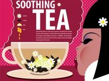 Κατευναστικό τσάι κοριτσιών Στοκ Εικόνες