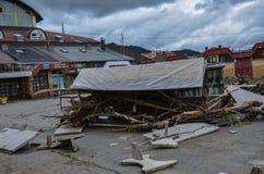 Κατεδαφισμένος, πλήρης των απορριμάτων, πίνακας αγοράς Στοκ εικόνα με δικαίωμα ελεύθερης χρήσης