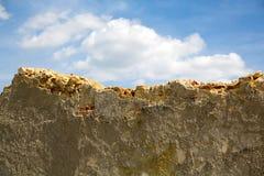 Κατεδαφισμένος τοίχος στοκ φωτογραφίες