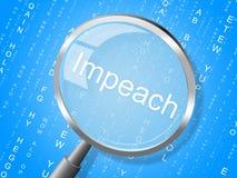 Κατηγορήστε την κατηγορία Magnifier για να απομακρύνετε το διεφθαρμένο Πρόεδρο ή τον πολιτικό ελεύθερη απεικόνιση δικαιώματος