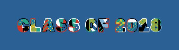 Κατηγορία απεικόνισης τέχνης του Word έννοιας του 2018 απεικόνιση αποθεμάτων