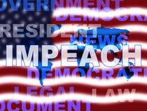 Κατηγορία στις ΗΠΑ για να κατηγορήσει το διεφθαρμένο Πρόεδρο ή τον πολιτικό ελεύθερη απεικόνιση δικαιώματος