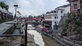 Κατμαντού, Νεπάλ, στις 2 Μαΐου 2018 - φυσική άποψη του παλαιού ιερού ινδού π στοκ εικόνες