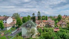 Κατοικήσιμη περιοχή στο Sibiu, Ρουμανία, το Μάιο του 2017 Στοκ Εικόνες