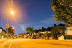 Κατοικήσιμη περιοχή τη νύχτα Στοκ φωτογραφία με δικαίωμα ελεύθερης χρήσης