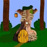 Κατοικήστε στο ξύλο διανυσματική απεικόνιση