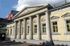 Κατοικία του πρεσβευτή της Ισπανίας σε Spasopeskovskiy pereulok, 8 Πρώην φέουδο πόλεων του Α γ Shchepochkoy - Ν Α Από Lviv Στοκ εικόνα με δικαίωμα ελεύθερης χρήσης