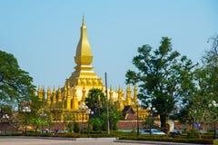 Κατοικία PHA που Luang Luang Prabang, ένα μεγάλο stupa, ένα βουδιστικό stupa Λάος vientiane Στοκ Εικόνες