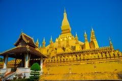 Κατοικία PHA που Luang Luang Prabang, ένα μεγάλο stupa, ένα βουδιστικό stupa Λάος vientiane Στοκ Φωτογραφίες