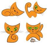 κατοικίδιο ζώο συλλογής γατών κινούμενων σχεδίων Στοκ φωτογραφία με δικαίωμα ελεύθερης χρήσης