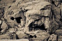 Κατοικίες απότομων βράχων πολιτισμού Chaco Στοκ Εικόνα