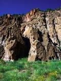 Κατοικίες απότομων βράχων στο Νέο Μεξικό στοκ φωτογραφίες