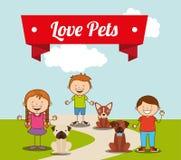 Κατοικίδια ζώα αγάπης ελεύθερη απεικόνιση δικαιώματος