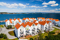 Κατοικημένα διαμερίσματα στη Νορβηγία Στοκ φωτογραφία με δικαίωμα ελεύθερης χρήσης