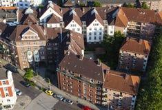 Κατοικημένα κτήρια από την υψηλή γωνία, Αμβούργο Στοκ φωτογραφίες με δικαίωμα ελεύθερης χρήσης