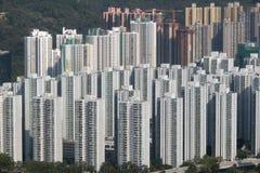 Κατοικημένα κτήρια στο νέο Χονγκ Κονγκ εδαφών Shatin Στοκ Φωτογραφία