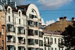 Κατοικημένα κτήρια Στοκ Εικόνα