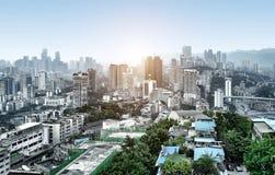 Κατοικημένα κτήρια Chongqing Στοκ εικόνα με δικαίωμα ελεύθερης χρήσης