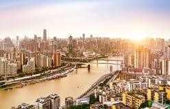 Κατοικημένα κτήρια Chongqing Στοκ Εικόνα